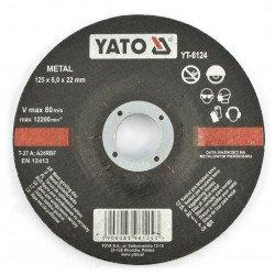 Metal grinding wheel Yato YT-6124 - convex - 125x6mm