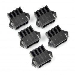 Female 4-pin socket housing - 2.5mm pitch