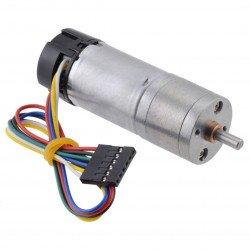 Geared motor 25Dx58L 499.1:1 6V 11RPM + CPR 48 encoder