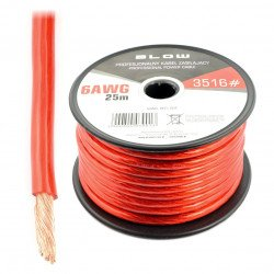 Professional power cable - Blow 6AWG - red - 25m