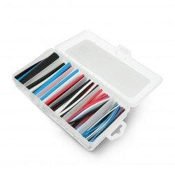 Set of heat shrink tubes 10cm - 5 colours, 6 diameters - 170 pieces.
