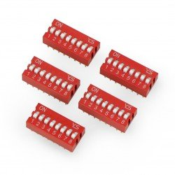 DIP switch 8-pole - red - 5...