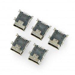 MiniUSB socket type B - SMD - 5pcs.