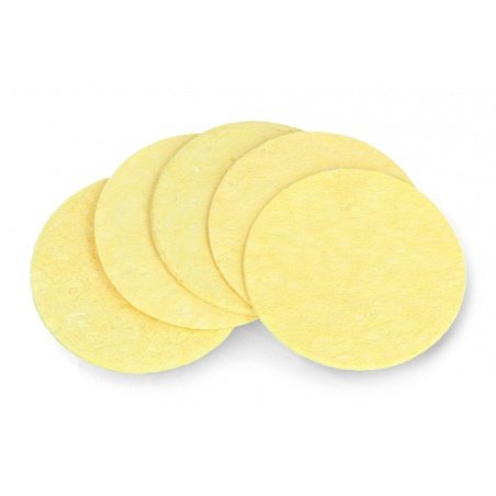 Blade cleaning sponge - round - 5 pieces.