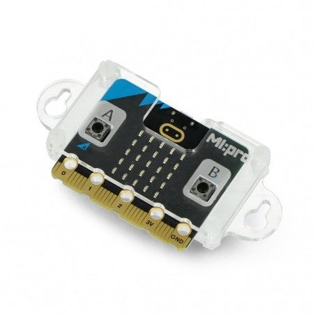 Case for BBC micro: bit V1 and V2 with side mounting brackets -