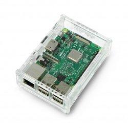 Case Raspberry Pi Model 3B+/3B/2B - transparent