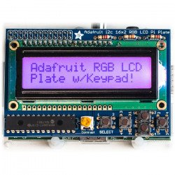 RGB positive 2x16 LCD + keypad Kit for Raspberry Pi - Adafruit