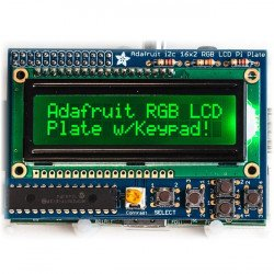 RGB negative 2x16 LCD + keypad Kit for Raspberry Pi - Adafruit