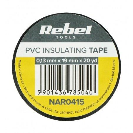 Insulating tape Rebel 0,13x19mm x 18,2m black