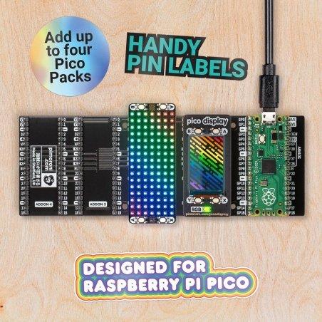 Pico Decker - quad IO expander for Raspberry Pi Pico