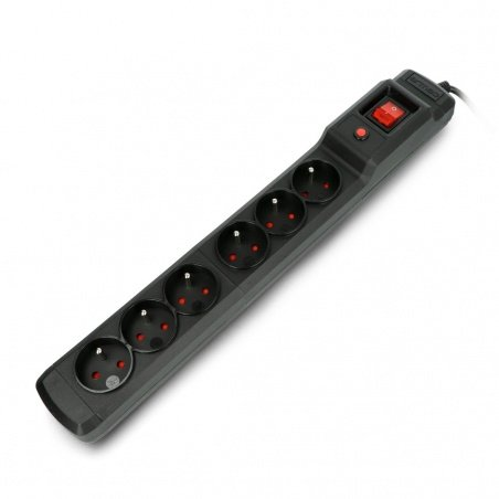 Power strip with protection Armac Multi M6 black - 6 sockets -