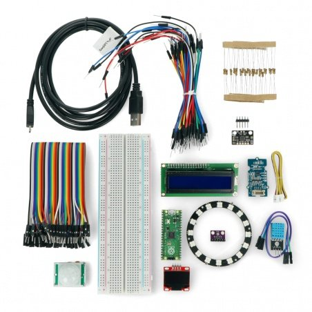 Ready to work with Raspberry Pi Pico - set of 13 modules, sample programs + board