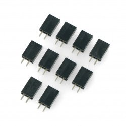 Straight 1x2pin socket with 2,54mm pitch - vertical - 10 pcs.