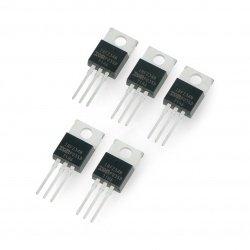 Transistor N-MOSFET IRFZ34N - THT - 5pcs.