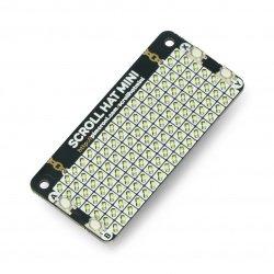 Scroll HAT Mini - 17x7 LED matrix - HAT for Raspberry Pi -