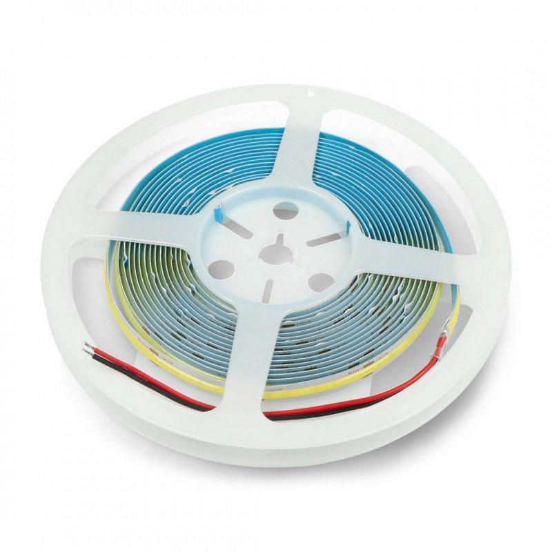 LED strip COB 12V IP20 10W/m 384diodes/m - cold white color - 5m