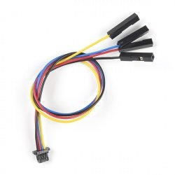 Flexible Qwiic Female Cable with 4-pin plug - 15cm - SparkFun