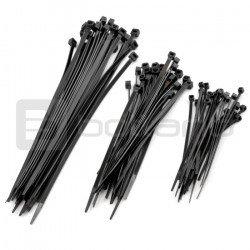 Cable ties black - 75pcs