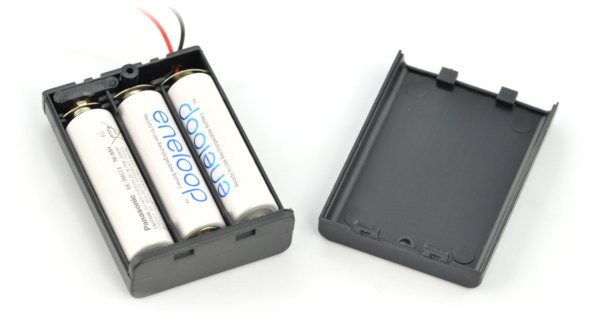 Koszyk na 3 baterie AA