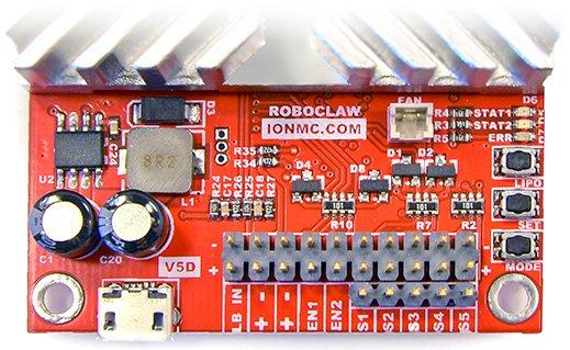 RoboClaw 2x30A USB - dwukanałowy sterownik silników 34V / 45A