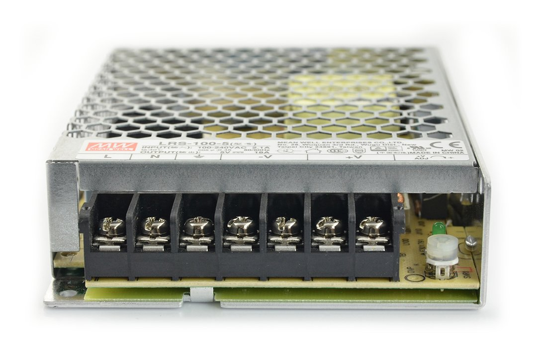 Power supply Mean Well LRS-100-5 - 5V / 18A / 90W_