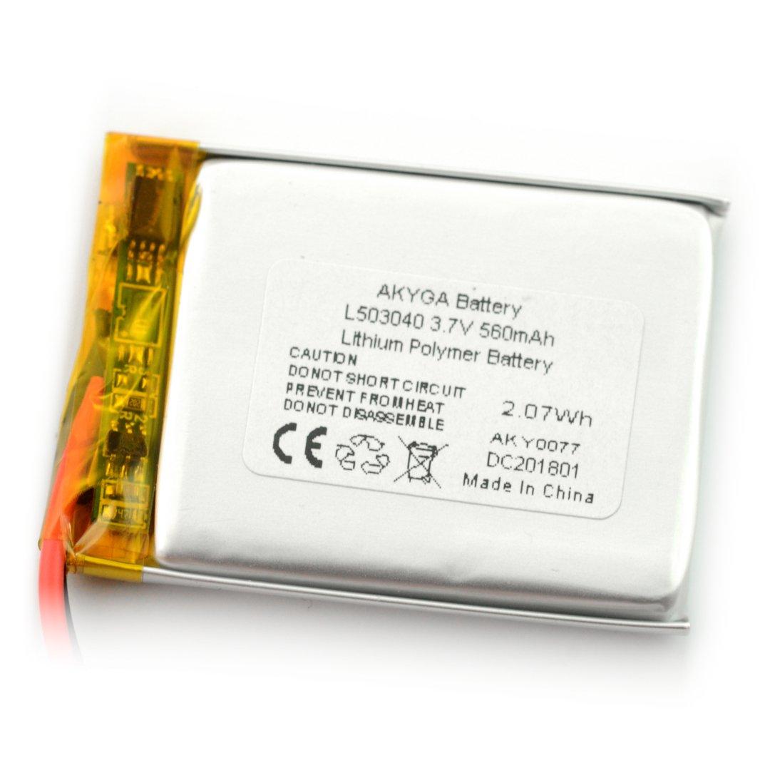 Akumulator Li-Pol Akyga 50mAh 1S 3,7V - złącze JST-BEC + gniazdo