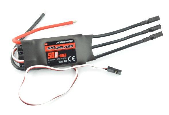 Sterownik silnika bezszczotkowego SkyWalker 50A ESC UBEC 2-4S