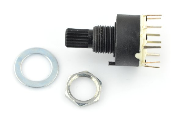 Rotary switch 6-position 1 circuit - 30mm