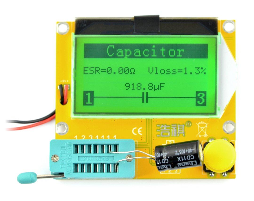 Zestaw do testowania, tester elementów elektronicznych THT - BTE-056