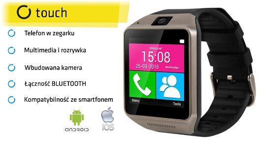 SmartWatch Touch - inteligetny zegarek z funkcją telefonuSmartWatch Touch - inteligetny zegarek z funkcją telefonu