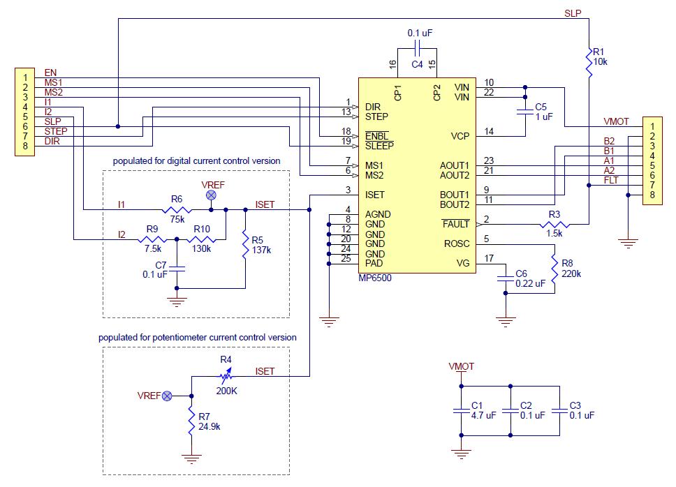 Schemat sterownika silnika krokowego