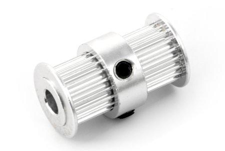 Koło zębate 20T - GT2 - 5 mm - podwójne