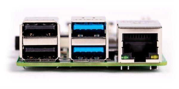 Raspberry Pi 4 - złącza USB 3.0