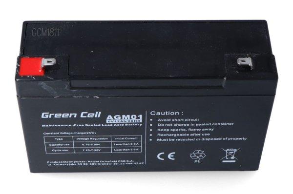 Akumulator AGM Green Cell 6 V 12 Ah