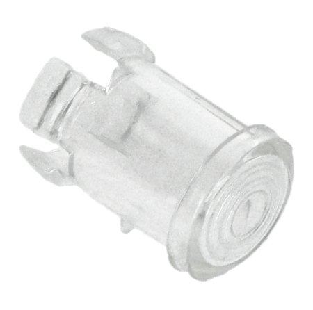 Oprawka LED 5mm - nylonowa długa przezroczysta - 10 szt.