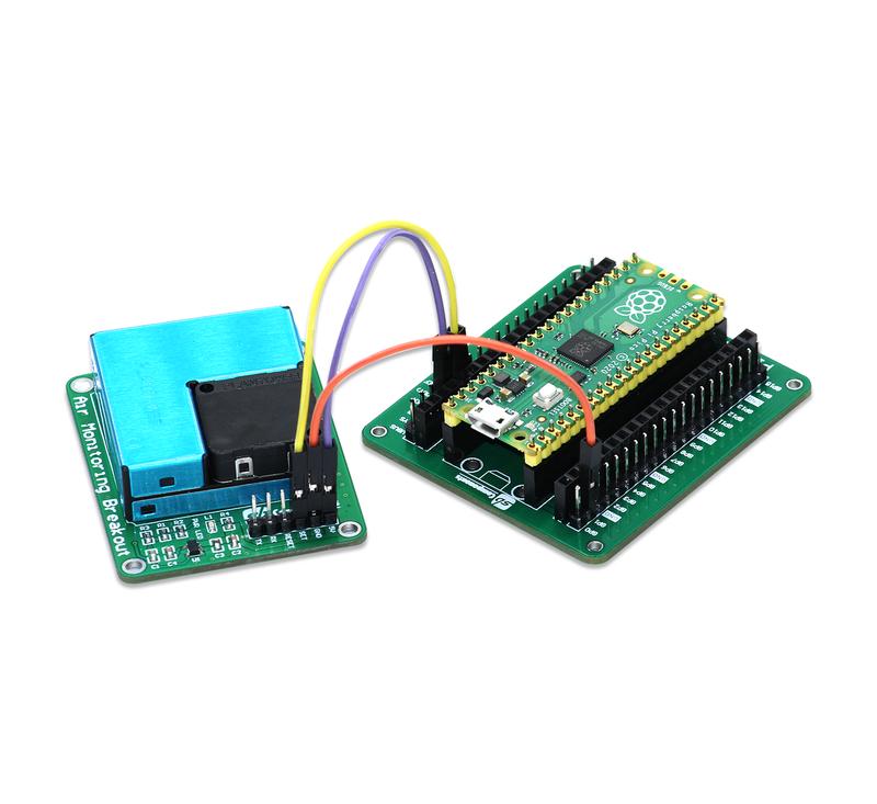 Przykład podłączenia z Raspberry Pi Pico
