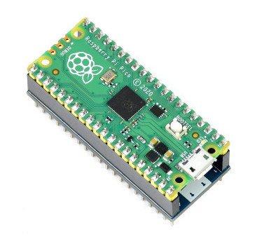 Moduł posiada gotowe wyprowadzenia, które umożliwiają wygodne podłączenie z Raspberry Pi Pico.