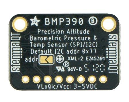 Czujnik zasilany jest napięciem w zakresie od 3 V do 5 V DC.