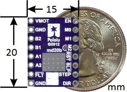 Niewielki moduł sterownika silnika krokowych opartego na układzie DRV8824
