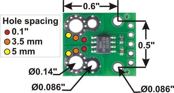 Wymiary czujnika pradu ACS711